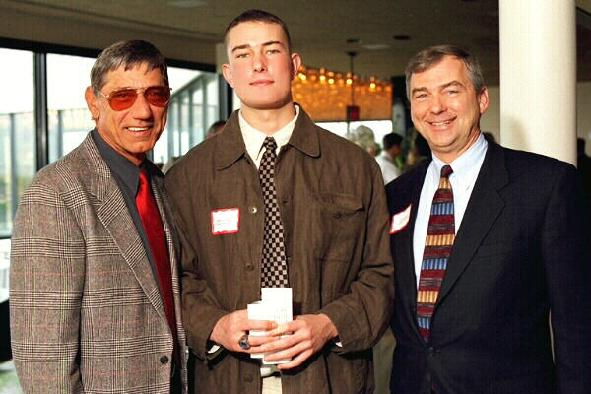 Joe Namath and Steve Dopp