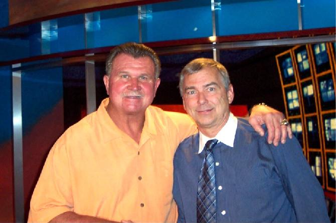 Mike Ditka and Buck Dopp