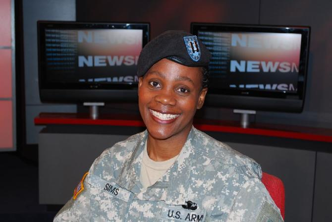 Captain Donna Sims, U.S. Army